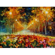 Abstrato Espatulado Jardim Colorido 1,00 X 0,75