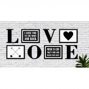 Decoração para Parede Quadros e Recorte Mdf Love Frases