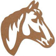 Escultura de Parede Quadro Cavalo Mdf 9mm