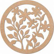 Escultura em Mdf Recorte Mandala Arabesco 60x60 M8