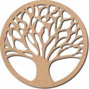 Escultura em Mdf Recorte Mandala árvore da vida 60x60