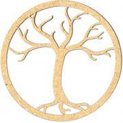 Escultura em Mdf Recorte Mandala Árvore Seca 60x60