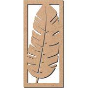 Escultura Recorte Folha de Bananeira  em Mdf crú 30x65