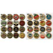 Kit 10  Placas Decorativas Cervejas Bebida Vintage Bar 41x41