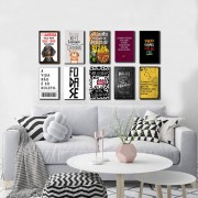 Kit 10  Placas Decorativas Frases