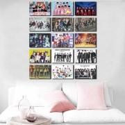 Kit 15 Placas Decorativas Bandas K Pop