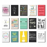 Kit 15 Placas Decorativas com Frases