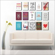 Kit 15 Placas Decorativas Frases