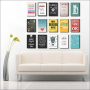 Kit 15 placas Decorativas Varias Frases M3