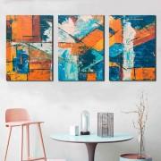 Kit 3 Quadros Decorativos Abstrato Geométricos