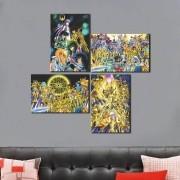 KIt 4 Placas Decorativas Os Cavaleiros do Zodíaco