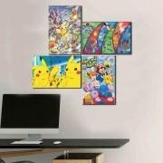 Kit 4 Placas Decorativas Pokémon