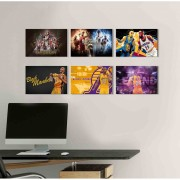Kit 6 Placas Decorativas Basquete M3