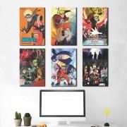 Kit 6 Placas Decorativas Naruto
