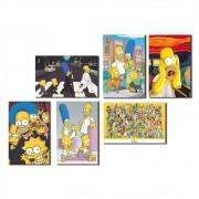 Kit 6 Placas Decorativas Os Simpsons