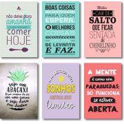 Kit 6 Quadrinhos Frases e Mensagens