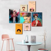 Kit 7 Quadros Decorativos Frases Frida Kahl