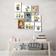 Kit 9 Placas Decorativa Minions