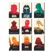 Kit 9 Placas Decorativas Star Wars