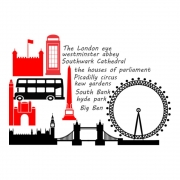 Kit Adesivos Cidade Londres