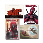 Kit Placas Decoraticas Filme Deadpool