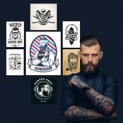 Kit Placas decorativas Barbearia Barber Shop