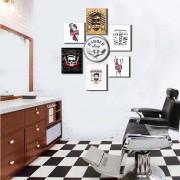 Kit Placas decorativas Barbearia Barber Shop M2