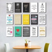 Kit Placas Decorativas Com Frases