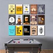 Kit Placas Decorativas Frases e Bebidas