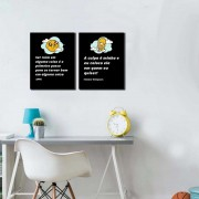 Kit Placas Decorativas Frases Homer e Jake