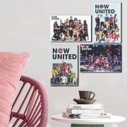 Kit Placas Decorativas Música Now United