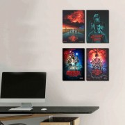 Kit Placas Decorativos Serie Stranger Things