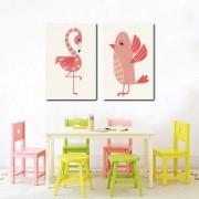 Kit Quadro Decorativo Animais Infantil