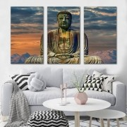 Kit quadro Decorativo Buda