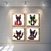 Kit Quadros Decorativo Cachorro Engraçado