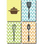 Kit Quadros Decorativo Para Cozinha