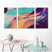 Kit Quadros Decorativos Abstrato 3 peças