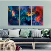 Kit Quadros Decorativos Abstrato Colorido