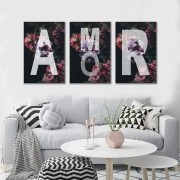 Kit Quadros Decorativos Amor