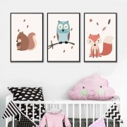 Kit Quadros Decorativos Animais Infantil M7