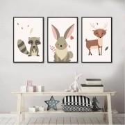 Kit Quadros Decorativos Animais Infantil M8