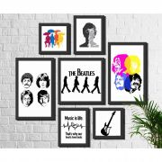 Kit 7 Quadros Decorativos Banda Beatles Rock