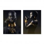 Kit Quadros Decorativos Beleza Negra