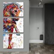 Kit Quadros Decorativos Cavalo colorido Moderno