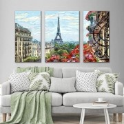 Kit Quadros Decorativos Cidade Paris