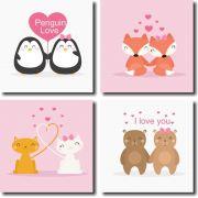 Kit Quadros Decorativos  De Amor Para Quarto M2