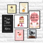 Kit Quadros Decorativos Decorativos Delícia De Bolo