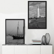 Kit Quadros Decorativos Farol e Mar