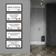 Kit Quadros Decorativos Flechas e Frases