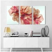Kit Quadros Decorativos Flores Abstratas